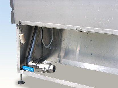 Detail vypúšťacieho ventilu